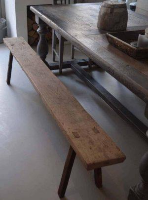 houten bankje keuken