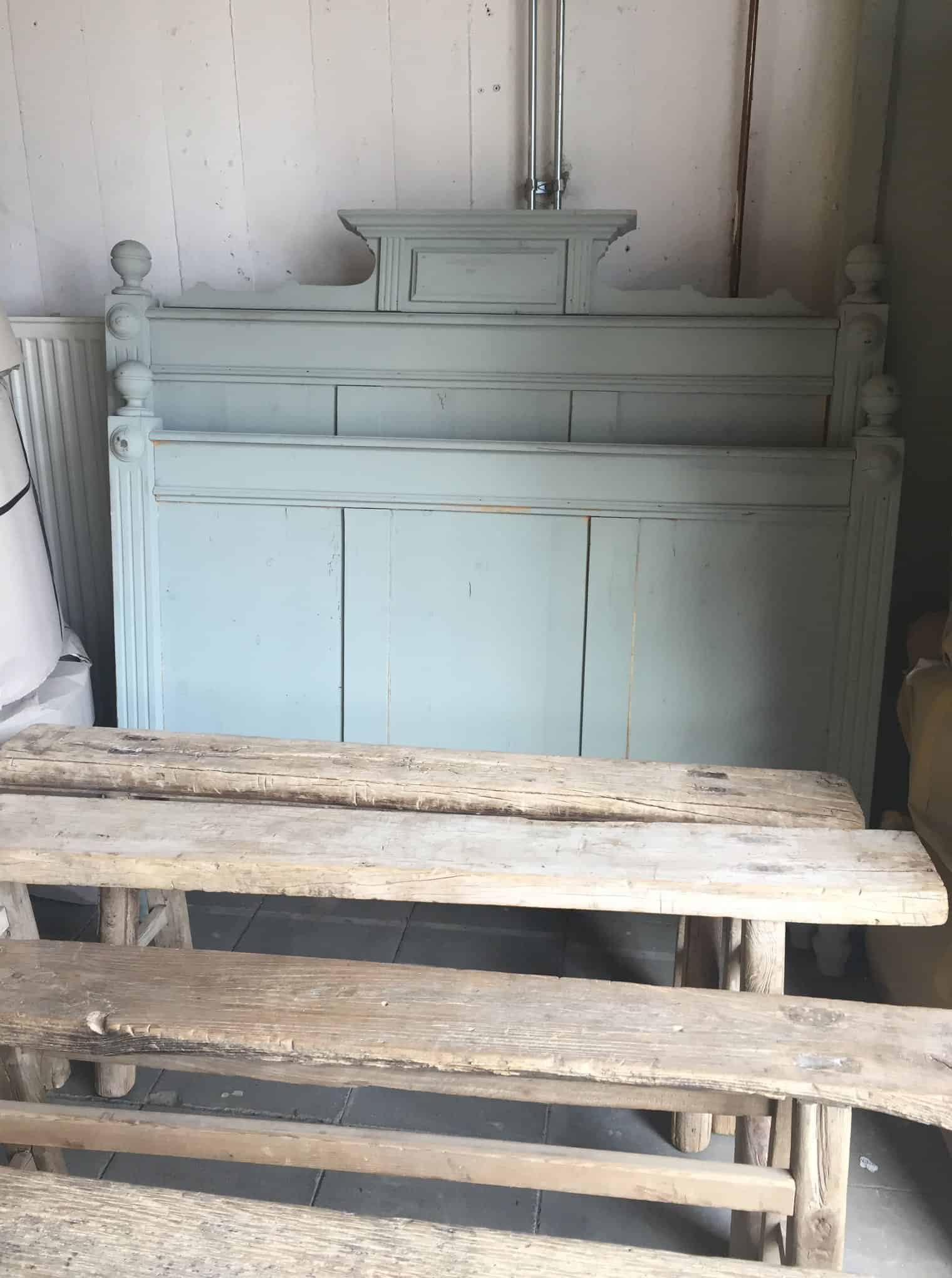 Oud Brocante Bed.Vintage Bed