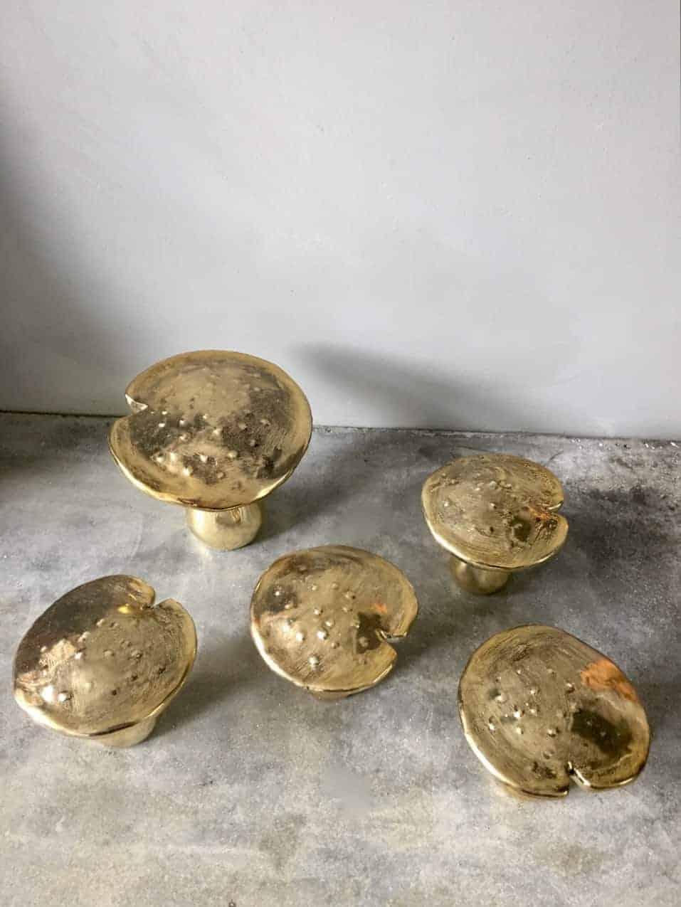 gouden paddenstoelen decoratie 2 - 1