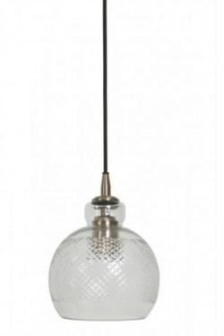 Met de juiste soort verlichting creëer je een passende sfeer in je interieur en leefruimte. Een lamp dient dan ook niet alleen als lichtbron, maar is ook als een accessoire ter aanvulling op jouw interieurstijl. De Hanglamp Ø17×22 cm DANITA glas antiek brons is uitgevoerd in Glas in de kleur Brons