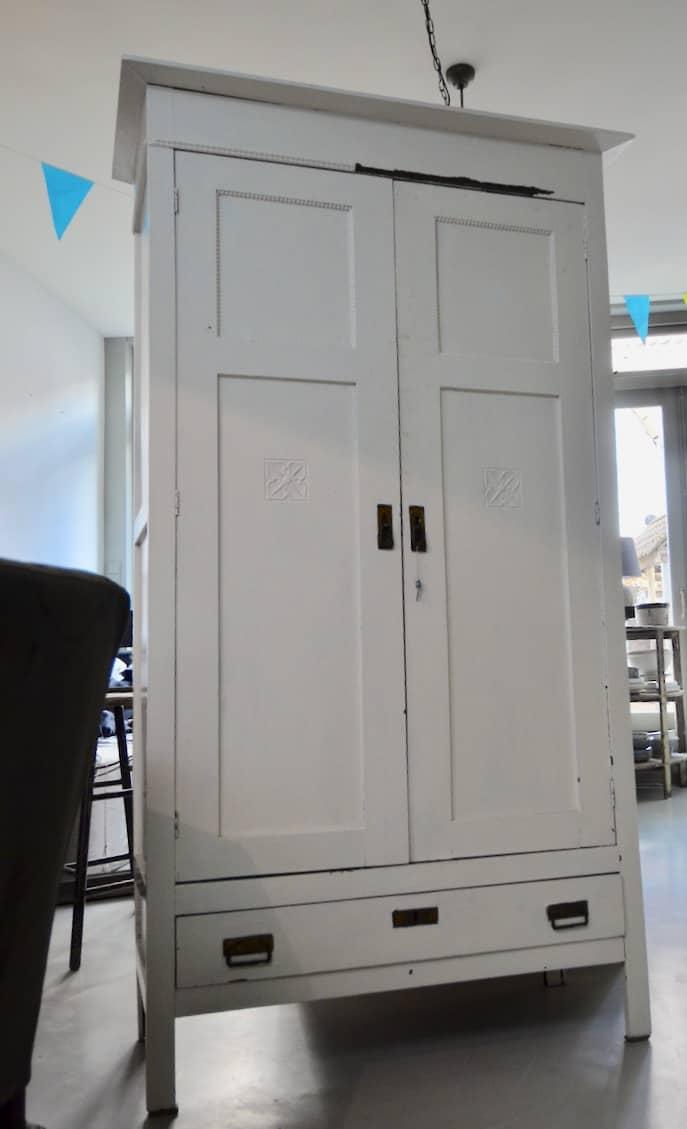 Witte Kast 1 Cedante Brocante Interieurstyling