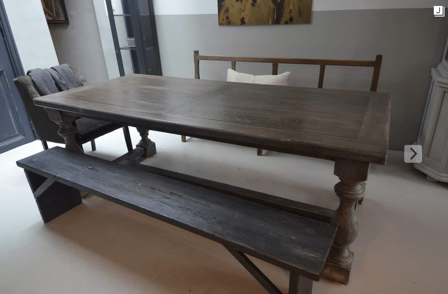 oud houten bank