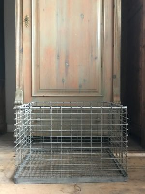 draadmand vierkant vintage oud - 1